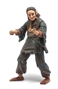 Super Posable Smeagol. Back in 2004, Toy Biz took a page from Hasbro's playbook and started to produce action figures from characters seen only briefly in the Lord of the Rings movies.One such occurrence is Sméagol (Stoor Fisherman). This version of the Pre-Gollum hobbit was seen at the start of Return of the King, as the movie depicts how he came into possession of the One Ring and his eventual downfall into darkness.