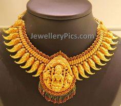 Lakshmi Mango mala antique necklace - Latest Jewellery Designs
