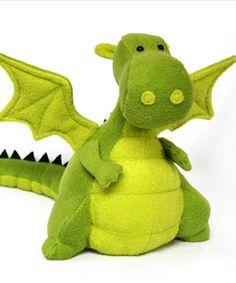 Yoki the Fat Dragon Fluffy (stuffy) sewing pattern by DIY Fluffies