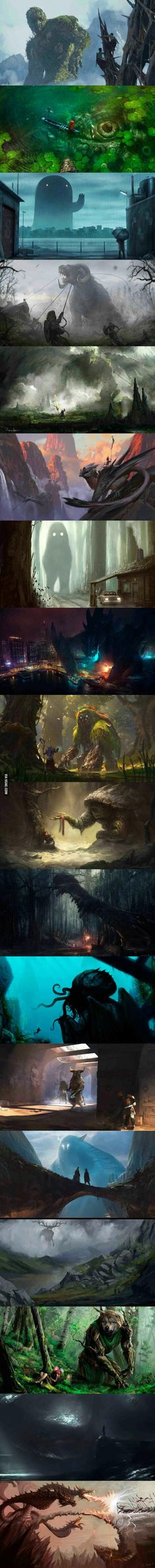 Beautiful art of some mythical creatures