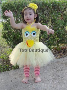 Tutu Dress  Big Bird Inspired Infant by TotsBoutique on Etsy, $35.00