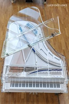 Design a unique color palette for your Bluthner fully transparent piano. Have the piano perfectly complement your home decor. The Piano, Piano Art, Grand Piano, Piano Music, Mundo Musical, Music Aesthetic, Guitar Art, Classical Music, Music Stuff