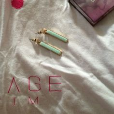 Boutique Mint earrings Spectacular mint earrings with gold tone backs from Goldfinch Boutique for pierced ears Jewelry Earrings