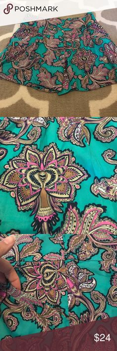 Beautiful Printed Shorts - NWT! Beautiful Printed Shorts with a silky feel, pockets and a side waist zip. New with tags! LOFT Shorts