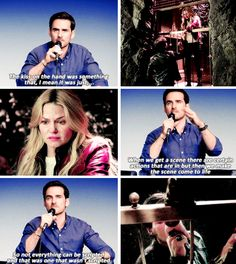 Colin on improvising the hand kiss in the elevator scene