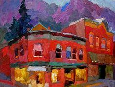 Larisa Aukon,Vintage Town - Oil
