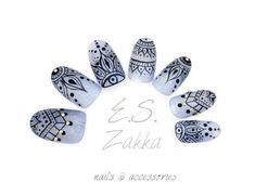 Henna Gel NailsFake nails false nails press on nails by ESZakka