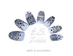 Henna Gel NailsFake nails false nails press on nails by ESZakka