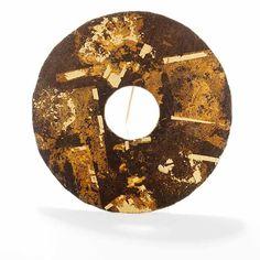 """Per Suntum, """"Broche Hi Tao"""", 1989 #smykker #jewelry #brooch #brass #silver #goldleaf"""
