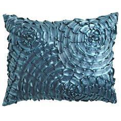 Metallic Swirls Pillow - Teal