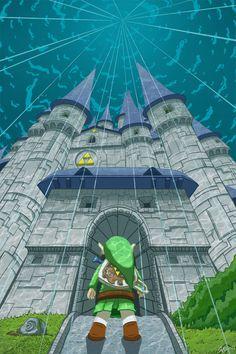 the legend of zelda | Tumblr. Legend of Zelda: Wind Waker. Link at Hyrule Castle deep in the ocean.