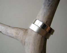 Unisex Sterling Silver Wedding Band - Mens ring- Satin Matte or Mirror shine - 5mm wide