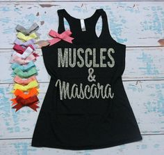 Muscles and Mascara flowy tri-blend by strongconfidentYOU on Etsy