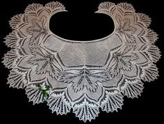 Красивая ажурная шаль спицами