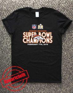 17a312aeb Denver Broncos - 2016 Super Bowl 50 Champions Unisex Tshirt   Price   14.50