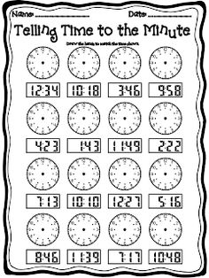 2nd Grade - Telling Time Worksheets