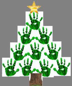 Kerstboom met handjes