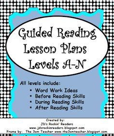 The Resource Room Teacher: Guided Reading- her blog has lots of good resources and ideas