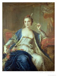 Mademoiselle Marie Salle (1707-1756), ballet dancer iand innovator, 1737 by Louis-Michel van Loo (1707-1771) (Tours)