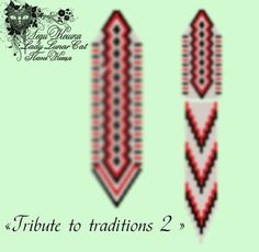 "Schemes for the beading by Lady Lunar Cat peyote pattern beaded earrings  ""Tribute to traditions 2 "" #LadyLunarCat #peyote #pattern"