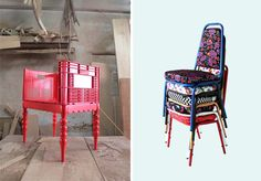 56th studio - love these chair designs - giving something old new life.