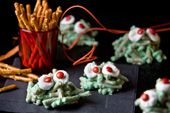 Red Eyed Green Pretzel Monsters