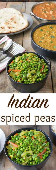 Indian spiced peas has onions and red bell peppers. There's no easier (or…