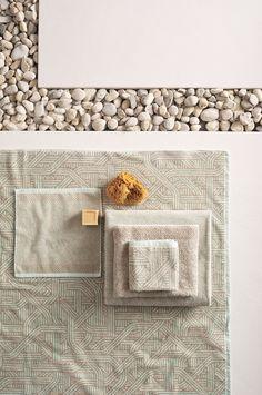 Bath Linens, Bath Towels, Contemporary Bathroom Designs, Three Dimensional, Cotton Linen, Save Yourself, Pattern, House, Cotton Sheets