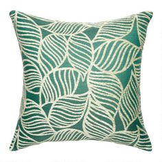 Leaf Jacquard Square Throw Pillow | Christmas Tree Shops andThat!