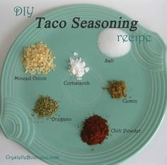 taco seasoning - just tried this minus the cornstarch and oregano but with a little space aliens cajun spice and it's awesome!!