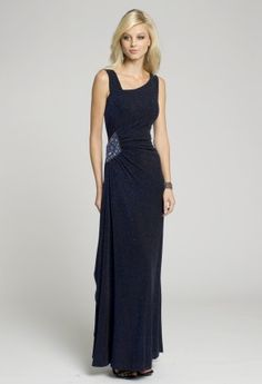 Prom Dresses 2013 - Glitter Jersey Long Dress with Beaded Motif from Camille La Vie and Group USA
