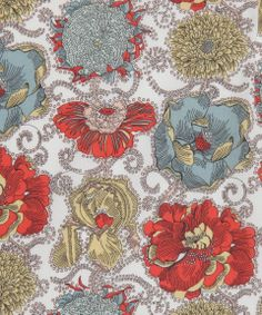 Liberty print Lucy Daisy Tana Lawn from the Liberty Art Fabrics collection. Motifs Textiles, Textile Patterns, Textile Prints, Textile Design, Flower Patterns, Fabric Design, Print Patterns, Print Fabrics, Flower Designs