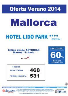 Mallorca, 60% Dto.Acompañante, Hotel Lido Park, salida 17 Junio desde Asturias ultimo minuto - http://zocotours.com/mallorca-60-dto-acompanante-hotel-lido-park-salida-17-junio-desde-asturias-ultimo-minuto/
