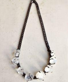 Unearthen 8 Stone Clear Quartz Shard Necklace
