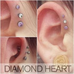 Like the colors and sizes, cute idea for forward helix