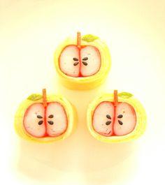 カニカマりんごのデコおかず(._.)φ *森崎りよのママレシピ*