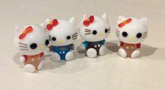 4 Tiny Glass Hello Kitty Miniatures, Mini Glass Hello Kitty, Handmade Glass Hello Kitty Figurines, Hello Kitty Glass Charms, Miniature Cats by Lalecreations on Etsy