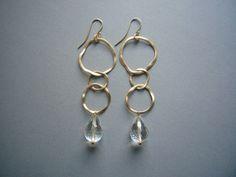 LOOPING Gold & Bergkristall von felicitas mayer ~ schmuck & accessoires auf DaWanda.com