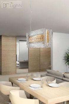 LUCE da VIVERE Glossy Lampe Pendelleuchte Gold Murano Glas Klar