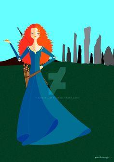 Merida (Origami by AmadeuxWay @deviantART) #Brave