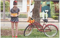 Spotted Moth: Photoshoot - Bicycle & Roses