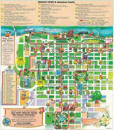 Walking Map Savannah Historic District map for savannah georgia