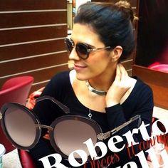 Mari Watchler escolheu seu Roberto Cavalli ♥ #amamos #aprovado #oticaswanny #clientewanny #keepasecret #marilia #wannyonline