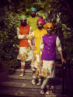 Wedding Function Outfits Inspiration for groom. Heavy floral embroidery or a minimal floral print for wedding outfit. Sherwani For Men Wedding, Wedding Dresses Men Indian, Wedding Outfits For Groom, Wedding Dress Men, Wedding Groom, Bridal Dresses, Wedding Reception, Bridesmaid Dresses, Wedding Ideas