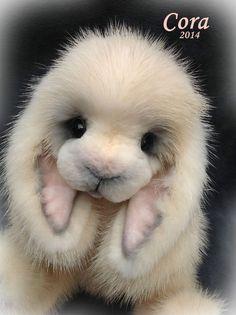 Real Mink ~Realistic Baby Lop eared Bunny Rabbit by Teddy Bear Artist Jenea Ivey #AllOccasion