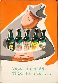 A hirdetőoszlop humoristái – vicces reklámplakátok az 50-es évekből - Nők Lapja Café Vintage Advertisements, Vintage Ads, Vintage Posters, Driftwood Art, Illustrations And Posters, Show, Vintage Pictures, Postcards, Advertising