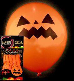 iLLoom Halloween Balloons - Fixed LED Light up Balloons - 5pk Halloween Specials (Pumpkin)