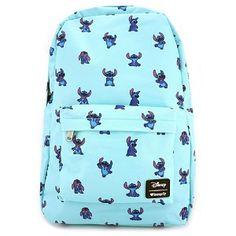 Disney Rucksack - Loungefly x Stitch Poses Print - Disney Ideen Lilo Ve Stitch, Lelo And Stitch, Lilo And Stitch Quotes, Citations Lilo Et Stitch, Stich Disney, Stitch Backpack, Denim Backpack, Cute Mini Backpacks, Backpacks For Kids