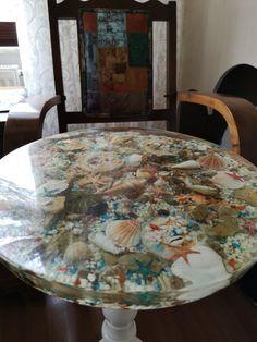 Deniz manzaralı reçine döküm sehpa Resin Crafts, Resin Art, Fun Stuff, Stuff To Do, Resin Table, Beach House Decor, Home Decor, Diy House Projects, Creative Home