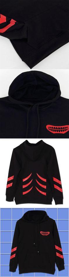 Anime Tokyo Ghoul Kaneki Ken Men Women Boys Pullover Swet shirt Hoodie Winter Cotton Warm Cosplay Long Sleeve Black Red